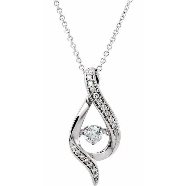 14K White 3/8 CTW Diamond Mystara® 16-18