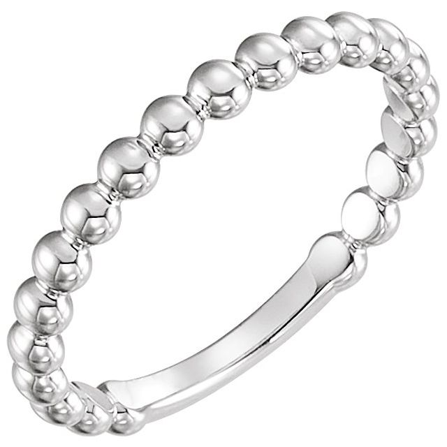 Sterling Silver 2.5 mm Stackable Bead Ring