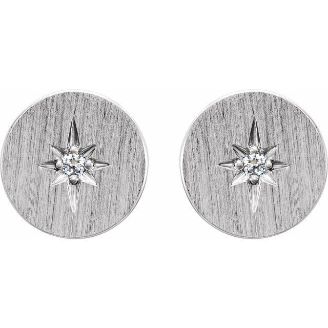 14K White .02 CTW Diamond Earrings