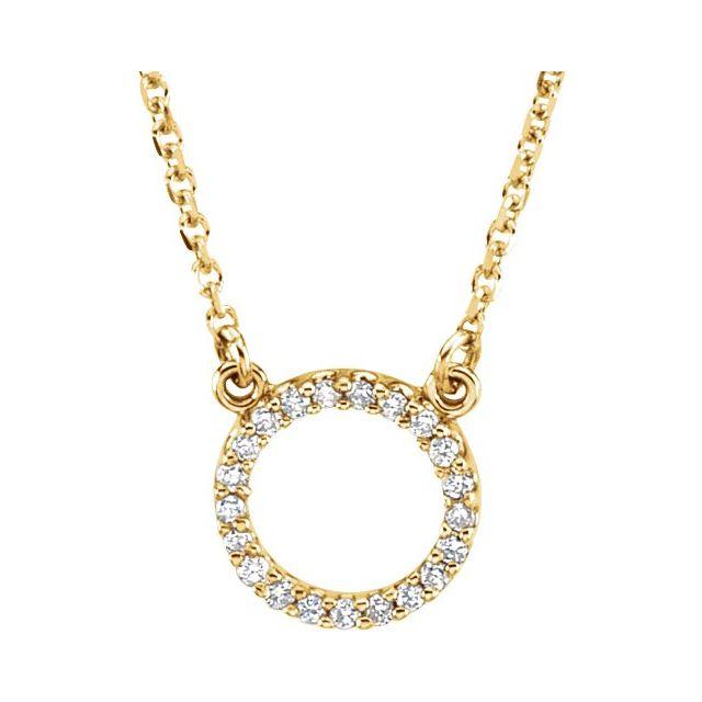 14K Yellow 1/10 CTW Diamond Circle 16