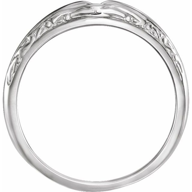 14K White Band for 5.8 mm Round Ring