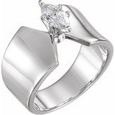 Solitaire Engagement Ring or Peg Shank