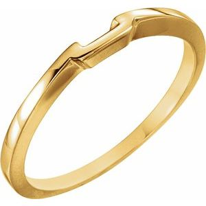 18K Yellow Band for 4.5 mm Solitaire Mounting