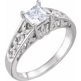 4-Prong Solitaire Retro Engagement Ring
