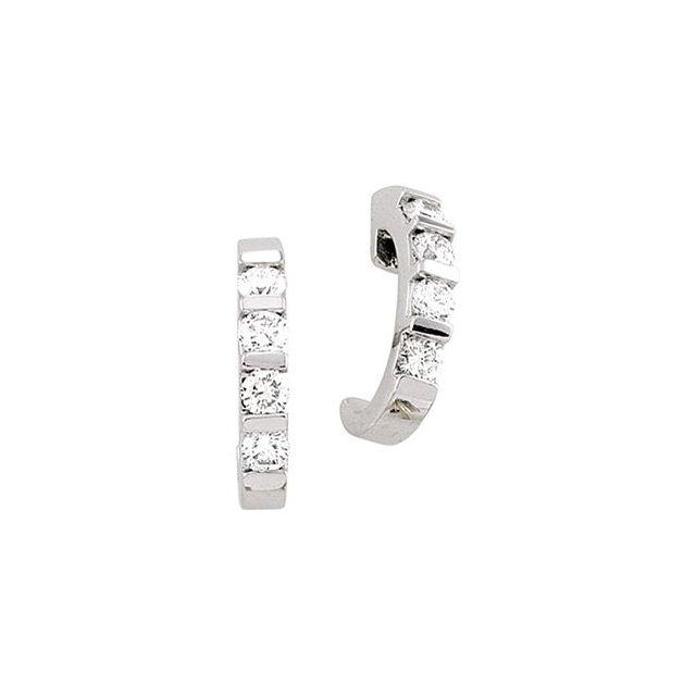 Bar Set J-Hoop Earrings