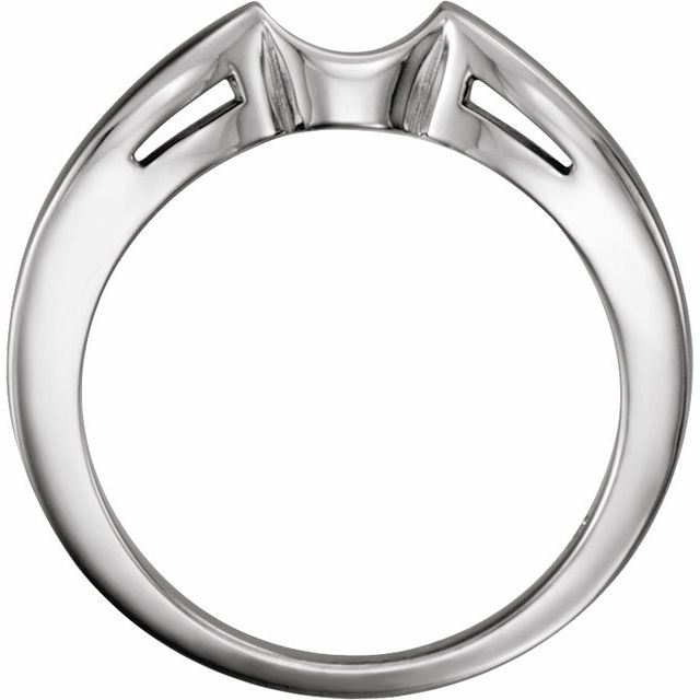 14K White Band for 7.4 mm Round Ring