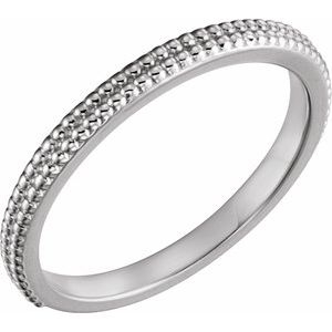 Sterling Silver Stackable Bead Ring