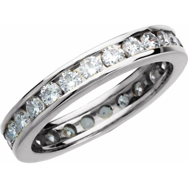 Platinum 1 1/3 CTW Diamond Eternity Band Size 7