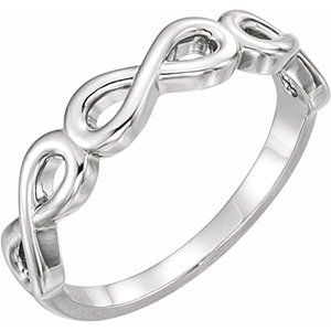 Sterling Silver Stackable Infinity-Inspired Ring