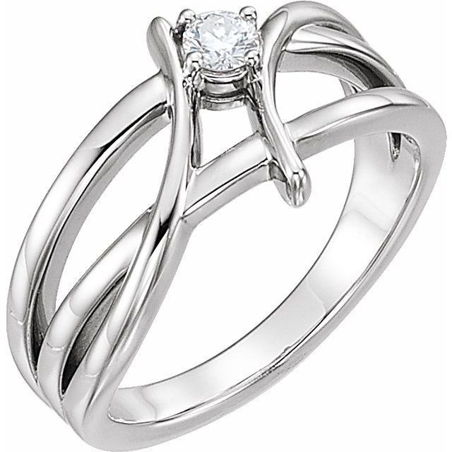 14K White 1/2 CT Diamond Ring