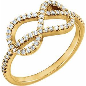 14K Yellow 1/3 CTW Diamond Knot Ring