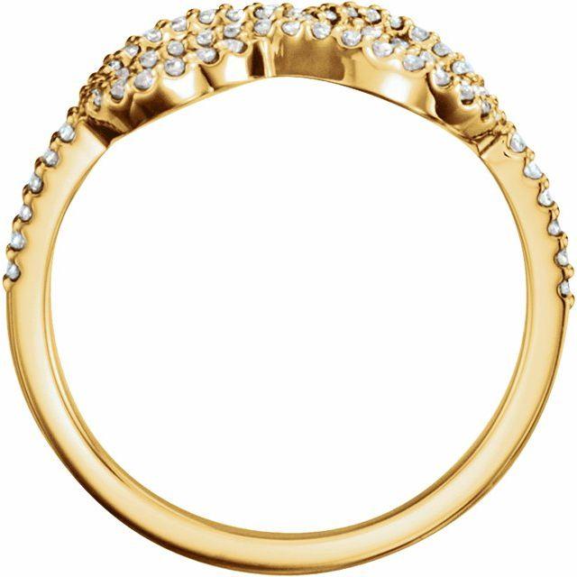 14K Yellow 1/3 CTW Natural Diamond Knot Ring
