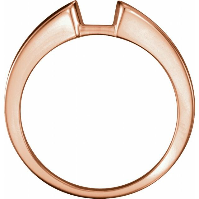 14K Rose Band for 4.6 mm Round Ring