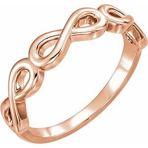 14K Rose Stackable Infinity-Inspired Ring