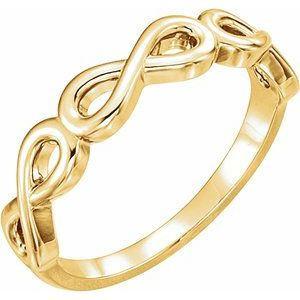 14K Yellow Stackable Infinity-Inspired Ring