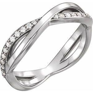 Platinum 1/5 CTW  Diamond Infinity-Inspired Ring