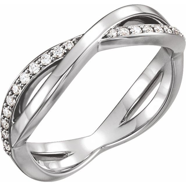14K White 1/5 CTW  Diamond Infinity-Inspired Ring