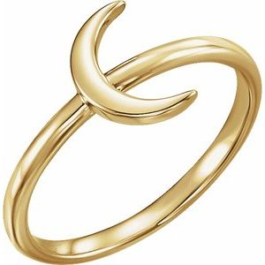 14K Yellow Crescent Ring