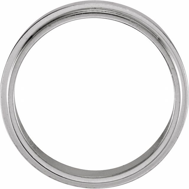 14K White 5 mm Flat Edge Band Size 9
