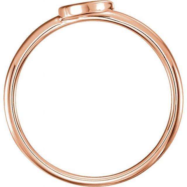14K Rose Crescent Ring