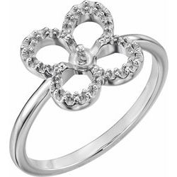 Freshwater Cultured Pearl & Diamond Clover Ring or Mounting