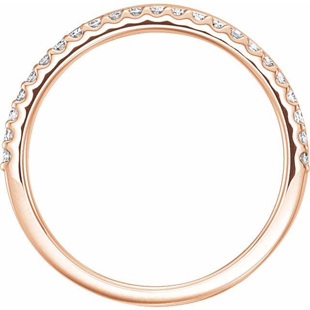 14K Rose 1/4 CTW Diamond Criss-Cross Ring