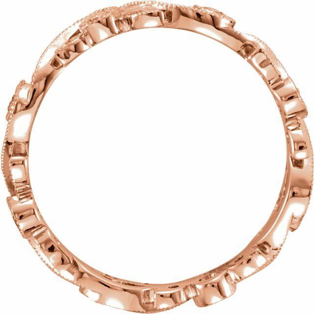 14K Rose 1/4 CTW Natural Diamond Eternity Band Size 7