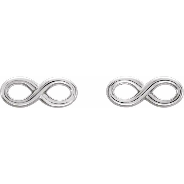 Sterling Silver Infinity-Inspired Earrings