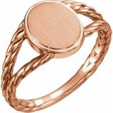 Oval Rope Signet Ring
