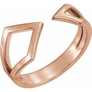 14K Rose Geometric Ring