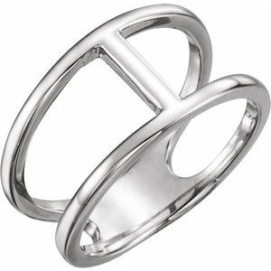 Sterling Silver 11.3 mm Negative Space Ring