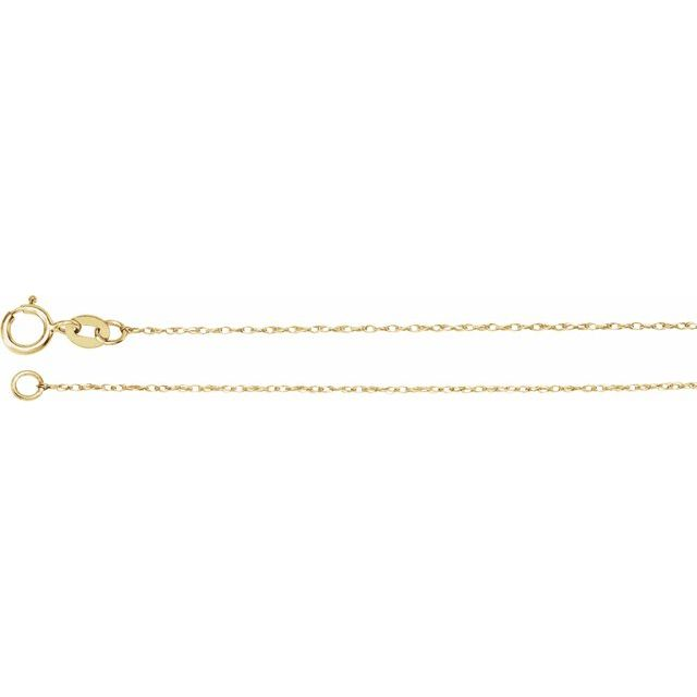 14K Yellow .75 mm Solid Rope 7