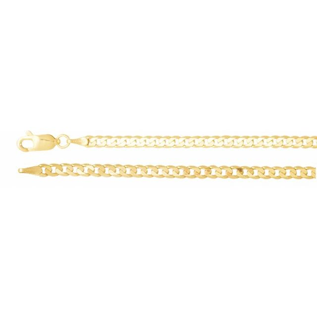 14K Yellow 3 mm Solid Curb 20