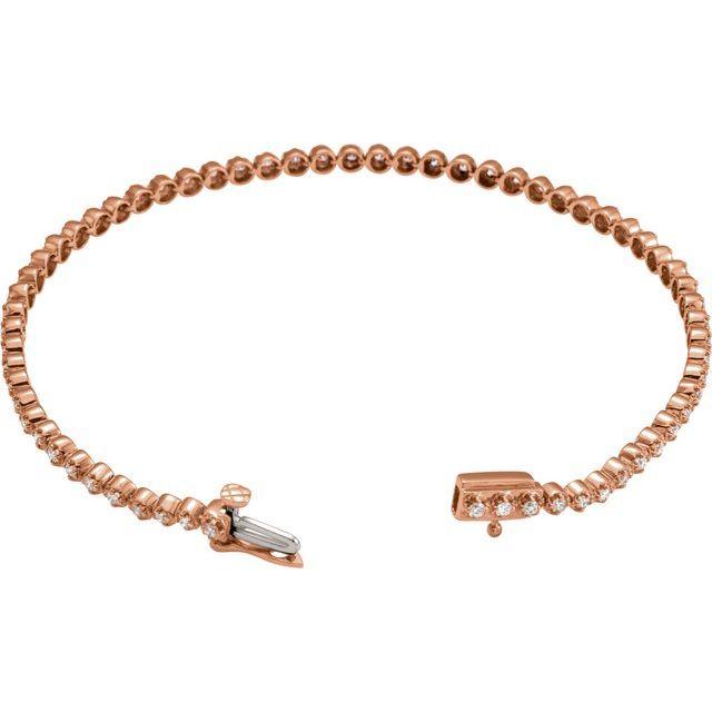 14K Rose 1 CTW Diamond Line Bracelet