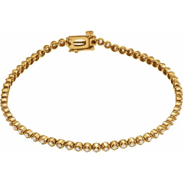 14K Yellow 1 CTW Diamond Line Bracelet