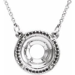 Drahokamový a Diamantový Halo štýl Pendant