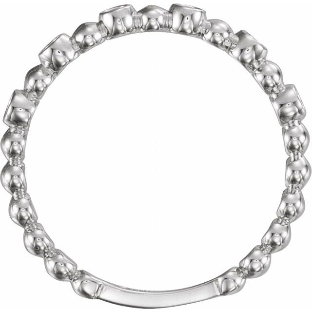 Sterling Silver Stackable Ring Mounting
