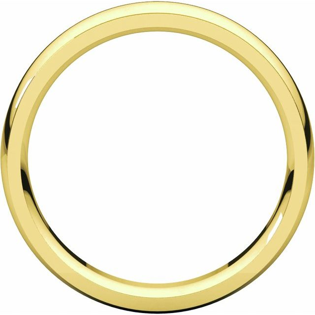 14K Yellow 5 mm Comfort Fit Edge Band Size 8