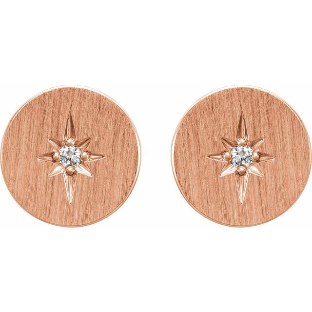 14K Rose .02 CTW Diamond Earrings