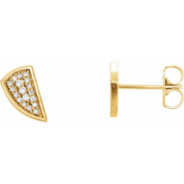 14K Yellow 1/10 CTW Diamond Earrings