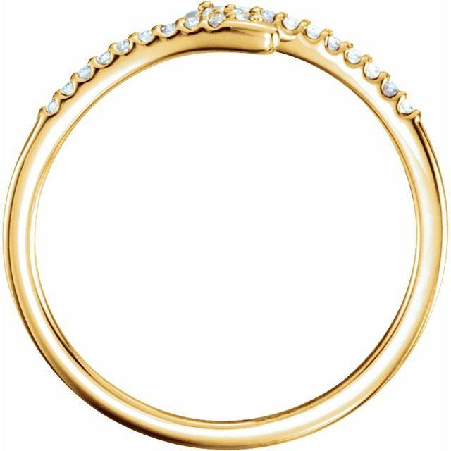 14K Yellow 1/8 CTW Diamond Stackable Ring