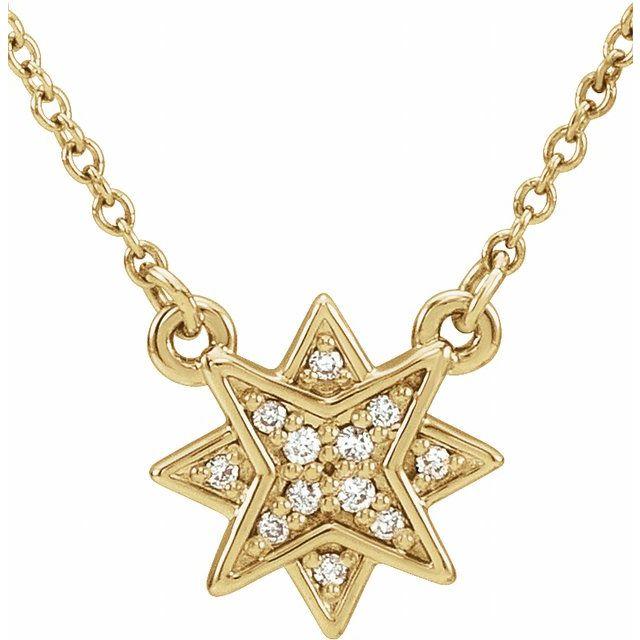 14K Yellow .04 CTW Diamond Star 16-18