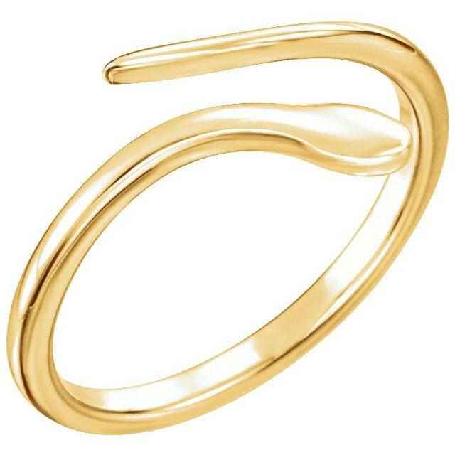 14K Yellow Snake Ring