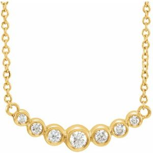 "14K Yellow 1/5 CTW Diamond 16-18"" Necklace"