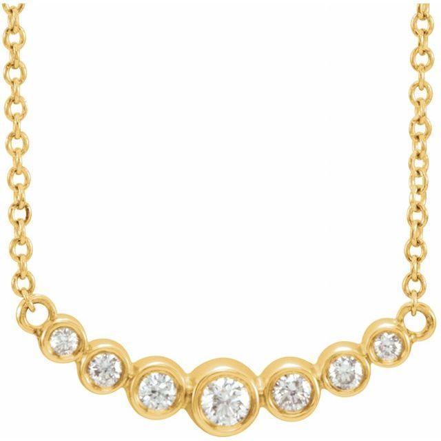 14K Yellow 1/5 CTW Diamond 16-18