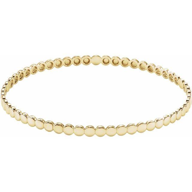 14K Yellow Bangle Bracelet