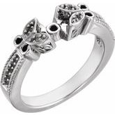 Butterfly Accented Engagement Ring Base