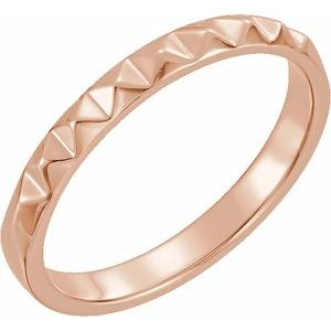 14K Rose Stackable Pyramid Ring
