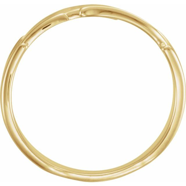 14K Yellow Leaf Ring