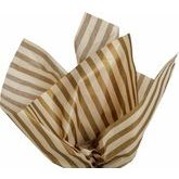 Metallic Gold Stripe Gift Wrap Tissue